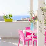 Terrazzo con vista mare, colazione in terrazzo, vista sul Golfo di castellammare, porto