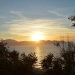 Bosco spiaggia tramonto mare Balestrate