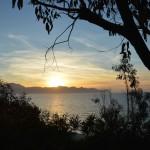 Vista dal bosco del mare di Balestrate