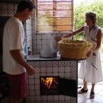 Tradizionale pasta fresca siciliana fatta a mano in casa