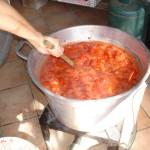 Cottura di pomodoro salsa fatta in casa