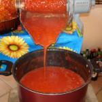 Salsa passata di pomodoro fatta in casa