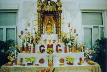 Altari di San Giuseppe a Balestrate, tradizioni religiose siciliane, mense di San Giuseppe, vampate di San Giuseppe